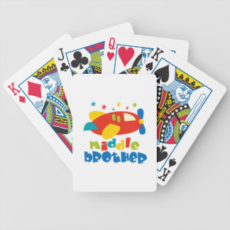 Middle Brother Plan Stars Bicycle Playing Cards
