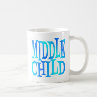 Middle Child Text in Blue Coffee Mug