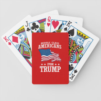 MIDDLE CLASS AMERICANS FOR TRUMP BICYCLE PLAYING CARDS