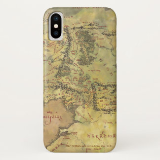MIDDLE EARTH™ #2 Map iPhone X Case