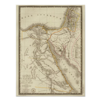 Middle East atlas map Poster