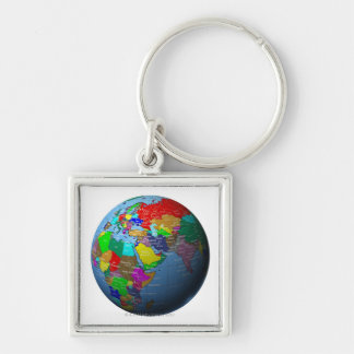 Middle East on Globe Keychains