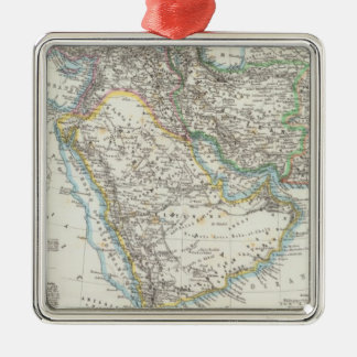 Middle East, South Asia Silver-Colored Square Ornament
