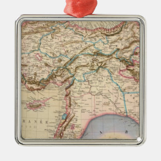 Middle East, Turkey, Syria, Asia Silver-Colored Square Ornament