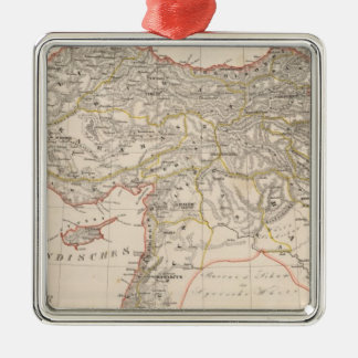 Middle East, Turkey, Syria Silver-Colored Square Ornament
