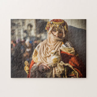Middle Eastern carnival mask in Venice Jigsaw Puzzle