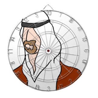 Middle Eastern man Dartboard With Darts