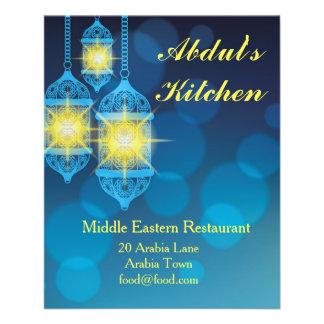 Middle eastern or Lebanese Moroccan restaurant Flyer