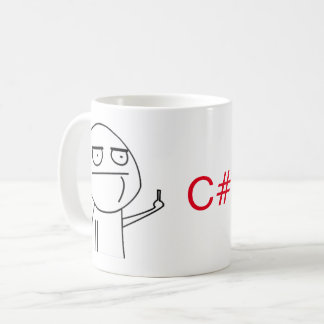Middle Finger C# Programmers' Coffee Mug