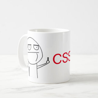 Middle Finger CSS Programmers' Coffee Mug