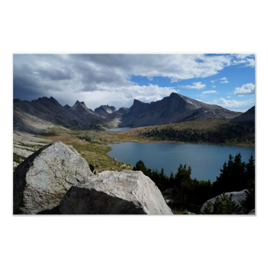 Middle Fork Lake & Lee Lake, WY Poster Print