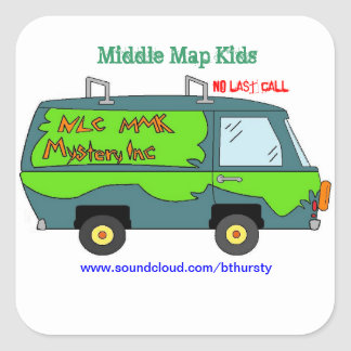 Middle Map Kids - Mystery Inc. Square Sticker