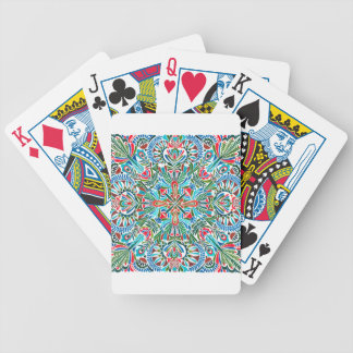 Middle of the Earth mandala Bicycle Playing Cards