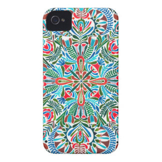 Middle of the Earth mandala iPhone 4 Cover