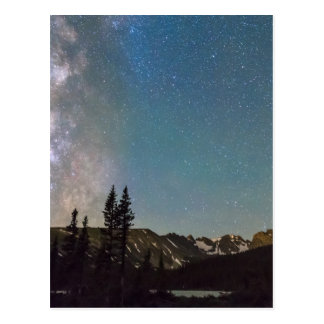 Middle of the Night Milky Way Rocky Mountains Postcard