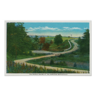 Middle Ravine View of Saratoga Battlefield Poster