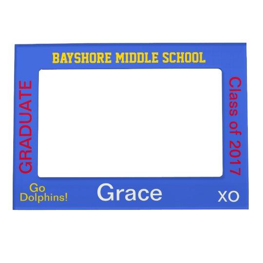 Middle School Graduate Blue Photo Frame Magnetic Photo Frames