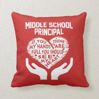 Middle School Principal Throw Pillow