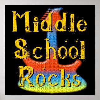 Middle School Rocks - Guitar Poster