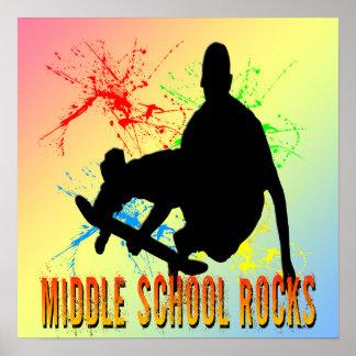 Middle School Rocks - Skateboarder Poster