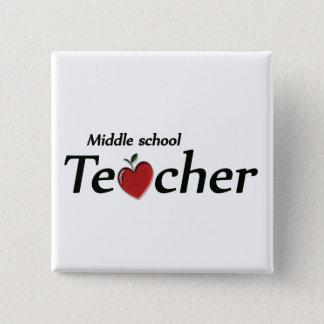 Middle School Teacher 2 Inch Square Button