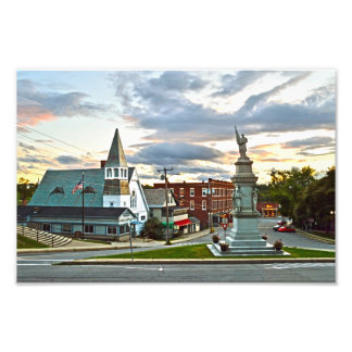Middlebury, Vermont, at Sunset Photograph