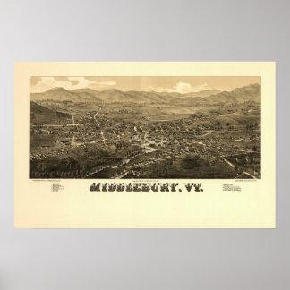 Middlebury VT 1886 Poster