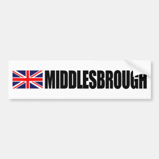 Middlesbrough UK Flag Bumper Sticker