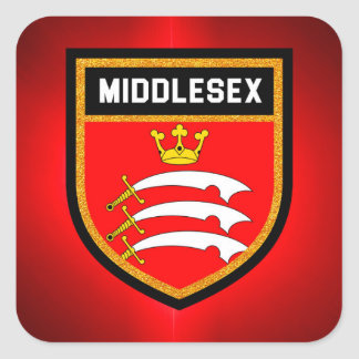 Middlesex Flag Square Sticker
