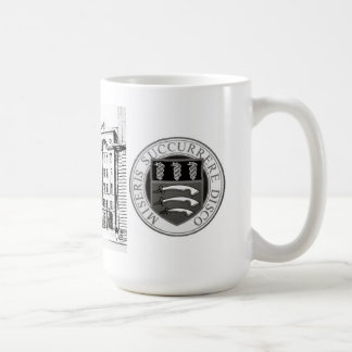 Middlesex Hospital Mug with B/W etching & badge
