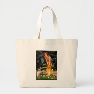 MidEve - Cream Sphynx cat Large Tote Bag