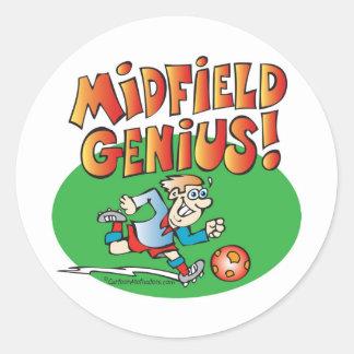 Midfield Genius! Round Sticker