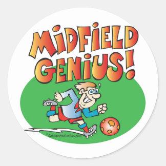Midfield Genius! Round Stickers