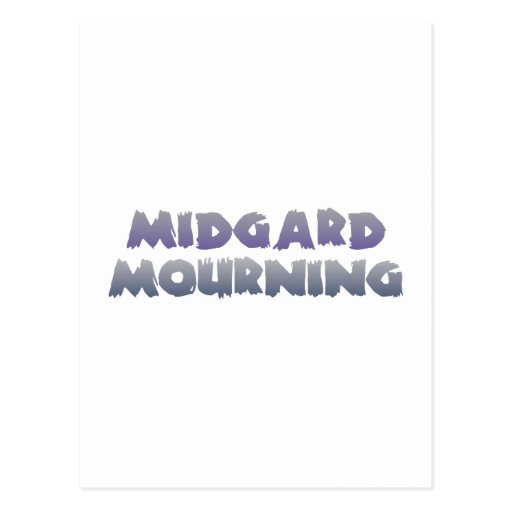midgard mourning postcard