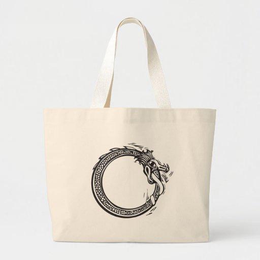 Midgard Serpent Tote Bags