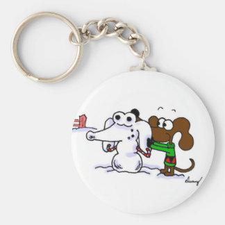 Midge Building Snowdog Keychain
