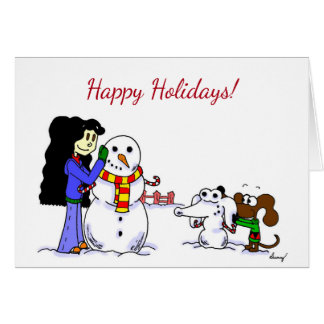 "Midge ""Happy Holidays"" Greeting Card - Customize"