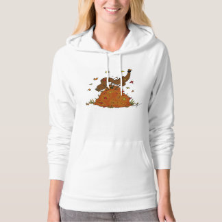 Midge Pile of Leaves Hoodies