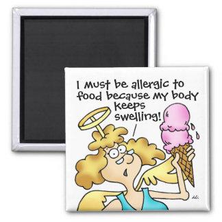 Midge's Allergic To Food Magnet