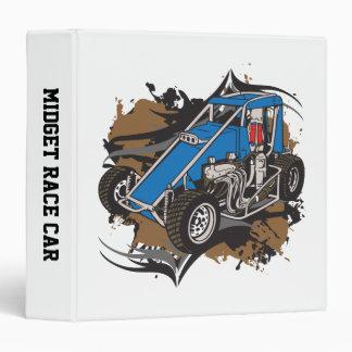 Midget Race Car Vinyl Binders