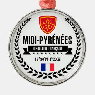 Midi-Pyrénées Metal Ornament