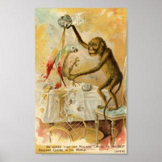 Midland Coffee Vintage Advertisement Poster