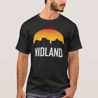 Midland Texas Sunset Skyline T-Shirt