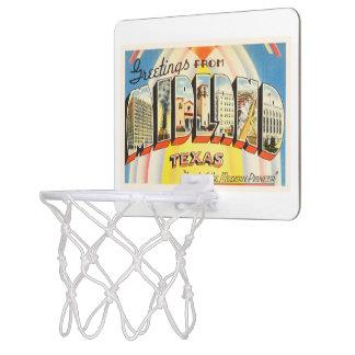Midland Texas TX Old Vintage Travel Souvenir Mini Basketball Hoop
