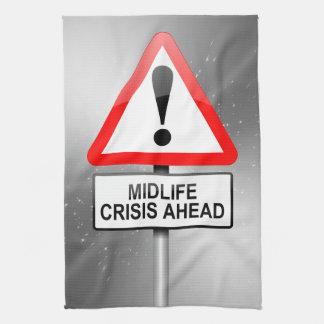 Midlife crisis warning. kitchen towel