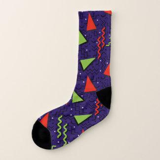 Midnight Abstract Memphis Design Socks