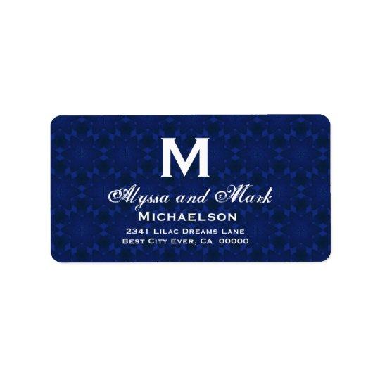 Midnight and White Wedding Monogram