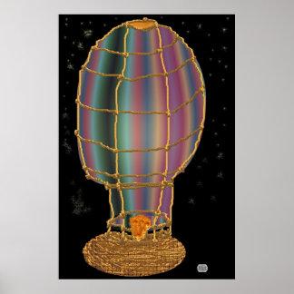 Midnight Balloon Ride Poster