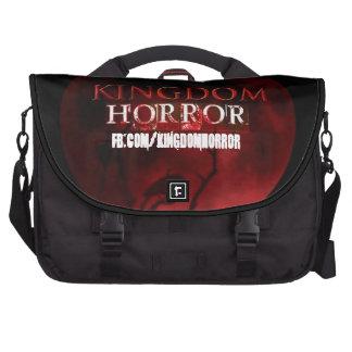 Midnight Black Kingdom Horror Laptop Bag