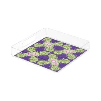 Midnight bloom acrylic tray